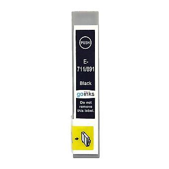1 Schwarze Tintenpatrone ersetzt Epson T0711 Kompatibel/Nicht-OEM von Go Tinten