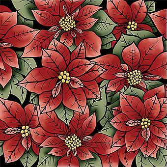 LDRS Creative Poinsettia Clear Stamp