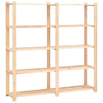 Storage shelf with 5 floors 170×38×170 cm Solid wood pine 500 kg