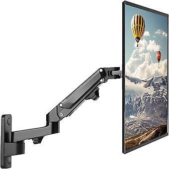"PUTORSEN 17-27"" Monitor Wall Mount TV Wall Bracket with Adjustable  LCD Moniter Arm (Black)"
