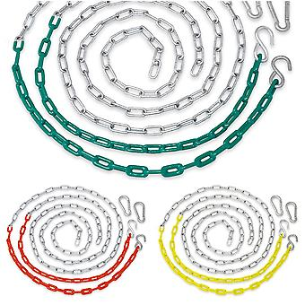Replacement Coated Heavy Duty Swing Seat Chain, Playground Accessories, Set of 4