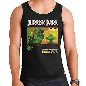 Jurassic Park T Rex Gefahr Hochspannung Männer's Weste