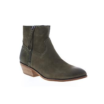 Frye & Co. Rubie Zip Bootie  Womens Green Leather Ankle & Booties Boots