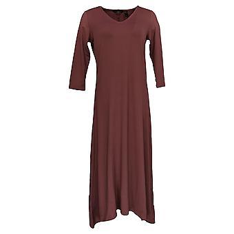 G.I.L.I. Got It Love It Dress Peached Knit V-Neck Purple A351968