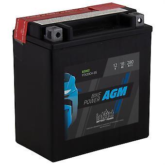 intAct YTX20CH-BS Maintenance Free AGM Bike-Power Battery