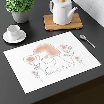 Lady Solitude Placemat ruskeassa