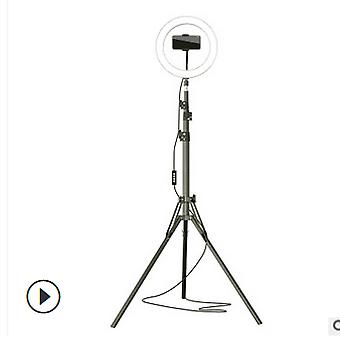 """8"""" Live stream makeup selfie led ring light with tripod stand bluetooth remote control cell phone holder"""