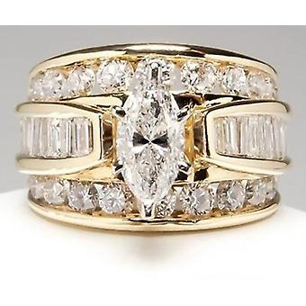 Charm Round Large Crystal Classic Temperament Popular Product Ring