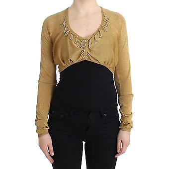 Gold embellished gold shrug