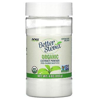 Now Foods, Better Stevia, Poudre d'extrait biologique, 4 oz (113 g)