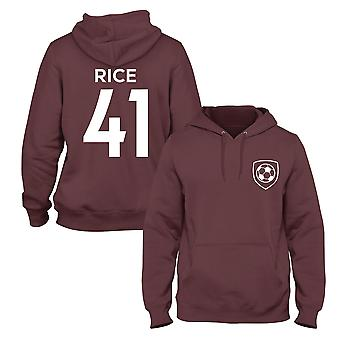Declan Rice 41 Club Style Player Football Hoodie