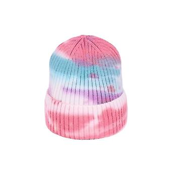 New Faux Fur Female Warm Cap Knitted Beanie Hats Bonnet