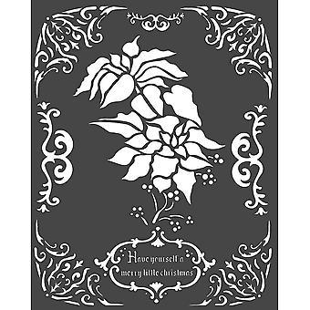 Stamperia Thick Stencil 20x25cm Poinsettia
