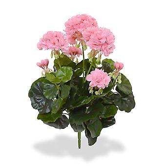 Kunstgeranium boeket 40 cm roze