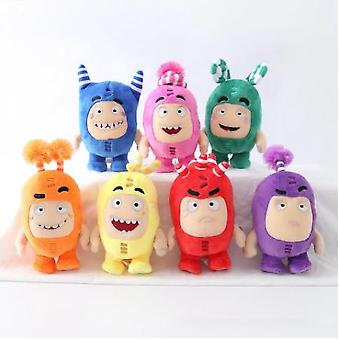 7pcs/lot Cartoon Oddbods Anime Plush Toy Treasure Of Soldiers Monster Soft Stuffed Toy Fuse Bubbles Zeke Jeff Doll For Kids Gift