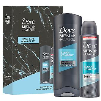 Dove Men+Care Daily Care Duo Gift Set - Dezodorant & Body Wash for Boys & Dads