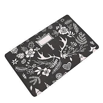 Tapis antidérapant, décoration moderne, tapis de dessin animé noir résistant aux taches, tapis imprimé littéraire