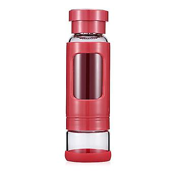 Portable Tea Tumbler Water Bottle 400ml With Removable Tea/fruit Infuser And Tea Storage Compartment