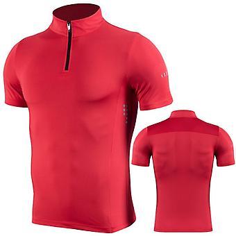Lyhythihainen, Treenattu T-paita Vetoketjullinen jalusta, T-paidat