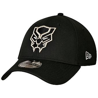 Black Panther Face Symbol Color Block New Era 39Thirty Chapeau ajusté