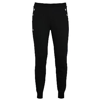 Lacoste men's black taped joggers
