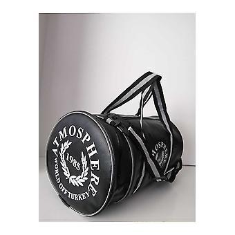 Unisex Black Cylinder Gym Bag