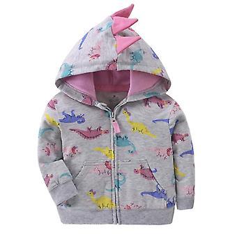 Spring Jacket For Baby, Cartoon Unicorn Cotton Zipper Coats