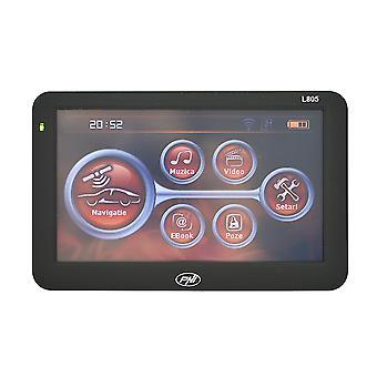 PNI L805 SYSTÈME de navigation GPS 5 pouces écran, 800 MHz, 256 Mo DDR3, mémoire interne de 8 Go, émetteur FM