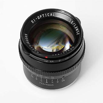 FengChun 50 mm F1.2 Objektiv APS-C Kamera-Objektiv, manueller Fokus, kompatibel mit Sony E Fujifilm
