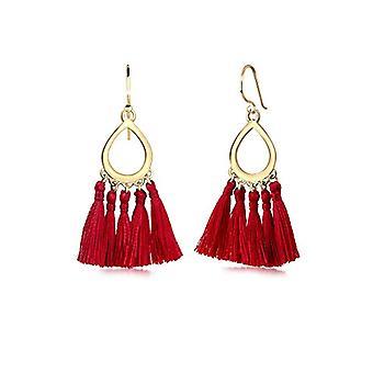 Elli Earrings Hanger Tassel Quaste Tropfen Festival 925 Silber