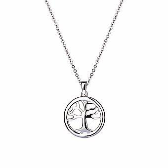Gaia - Pendentif Icônes d'Arbre Généalogique - Prolongateur 40cm +3cm - Argent - Cadeaux bijoux pour femmes de Lu Bella