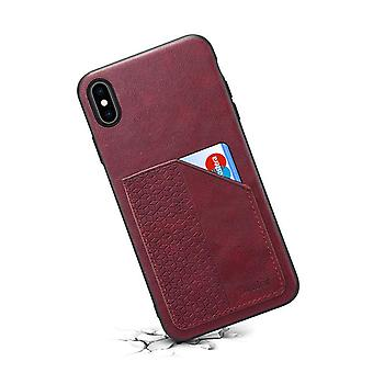 Wallet leather case card slot for iphone11pro red no472