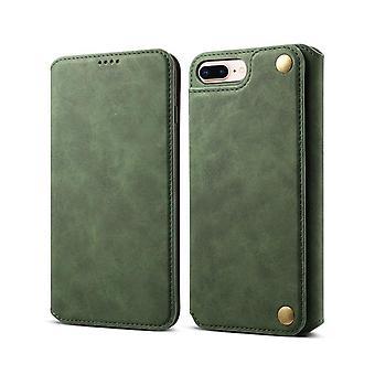 Slot per carte custodia in pelle portafoglio per iphone xs/x verde scuro pc3294