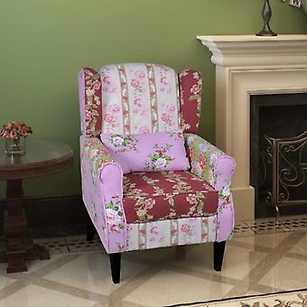 vidaXL Franse fauteuil met patchwork design stof