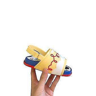 Maat 9 gele mini strandglijbaan speelgoed verhaal sandalen x3225