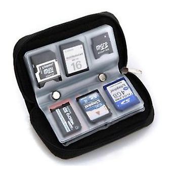 Speicherkarte Aufbewahrung tragen Tasche Tasche Halter Brieftasche für cf/sd/sdhc/ms/ds dt1953