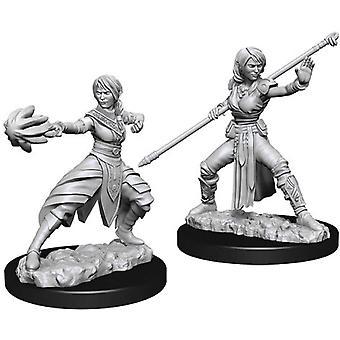Dungeons & Dragons Nolzurs underbara omålade miniatyrer - Kvinnlig halvälva munk