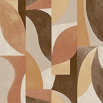 Grandeco Retro Beige Wallpaper