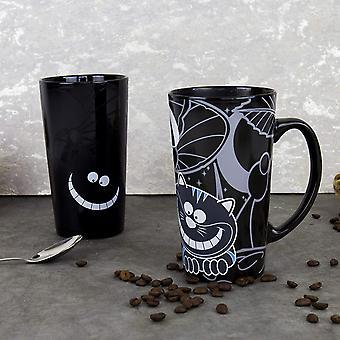 HanFei Cheshire Cat Mug, Porcelain, Black, 8.5 x 14 x 15 cm