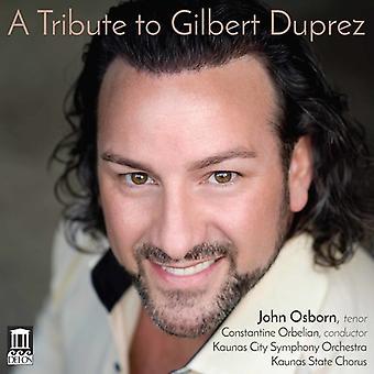 Verdi / Osborn / Orbelian - Tribute to Gilbert Duprez [CD] USA import