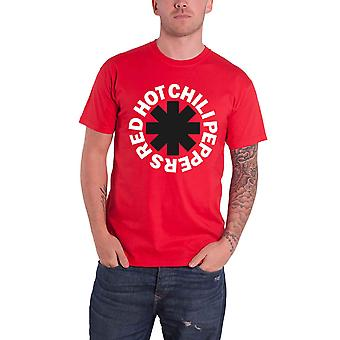 Red Hot Chili Peppers T Shirt Classic B&W Asterisk Band Logo Official Mens Red