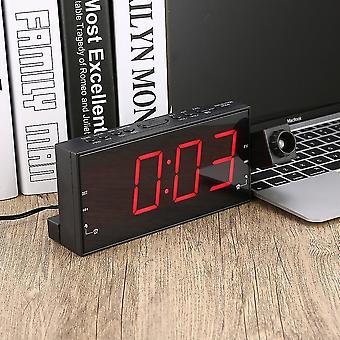 "1.8"" Led Display Dual Alarm Clock Rádio Fm Pll Projeção Alarme Clock Rádio"