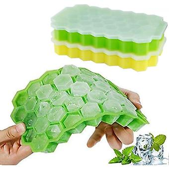2 Pack Silicone Ice Cube Tray 37 Compartment Ice Cube Mold With Cover