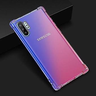 Beautiful Shockproof TPU Case with Airbag for Samsung Galaxy S10 - Blue & Pink