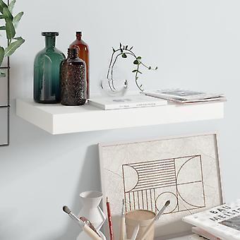 vidaXL Floating wall shelf high gloss white 40x23x3.8 cm MDF
