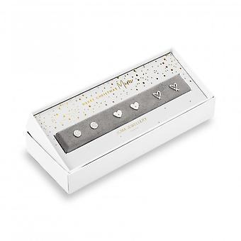 جوما المجوهرات مناسبة القرط مربع عيد ميلاد سعيد أمي 4890