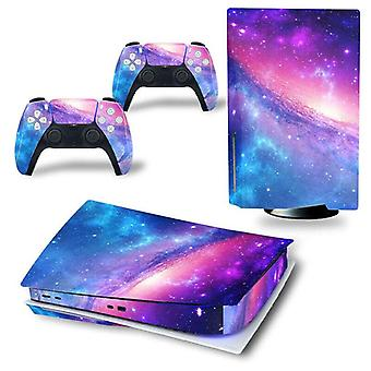 (Magic Starry Sky) PS5 Sticker Vinyl Skin Wrap Decal Decor for Playstation 5 Console Controllers