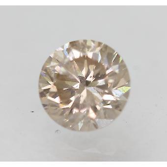 Cert 0.46 Quilates Top Light Brown VS2 Round Brilliant Natural Diamond 4.85mm