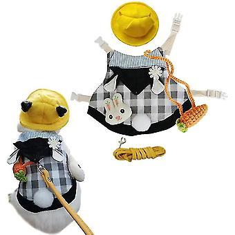 Lemmikki kani mekko, söpöt pienet eläimet pupu pääsiäispuku sunhat mini (musta)