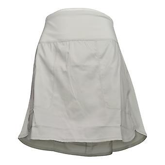 zuda Women's Petite Shorts Cityscape Skort w/ Pockets Gray A381038